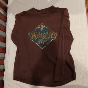 Old navy brown long sleeve shirt